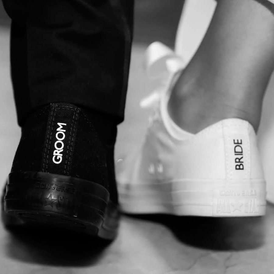 Converse Bride Heel Tags in 2020 | Wedding sneakers
