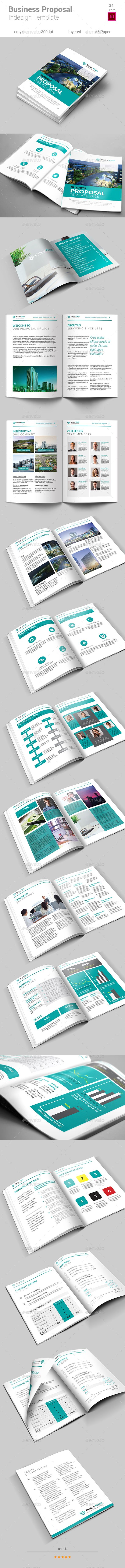 Business Proposal Template InDesign INDD. Download here: https ...