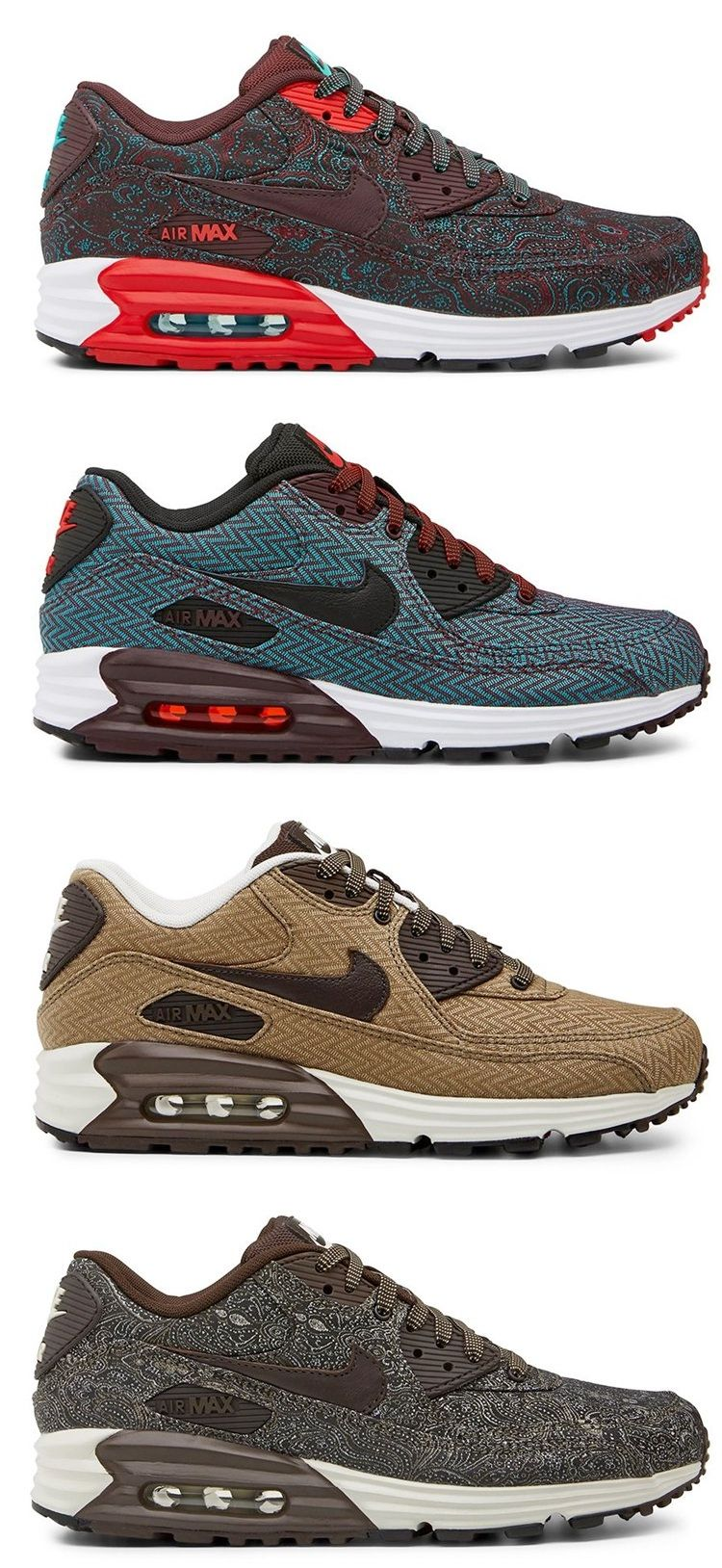 Suits And Ties Nike Air Max 90 Lunar Moda trampki  Sneakers fashion