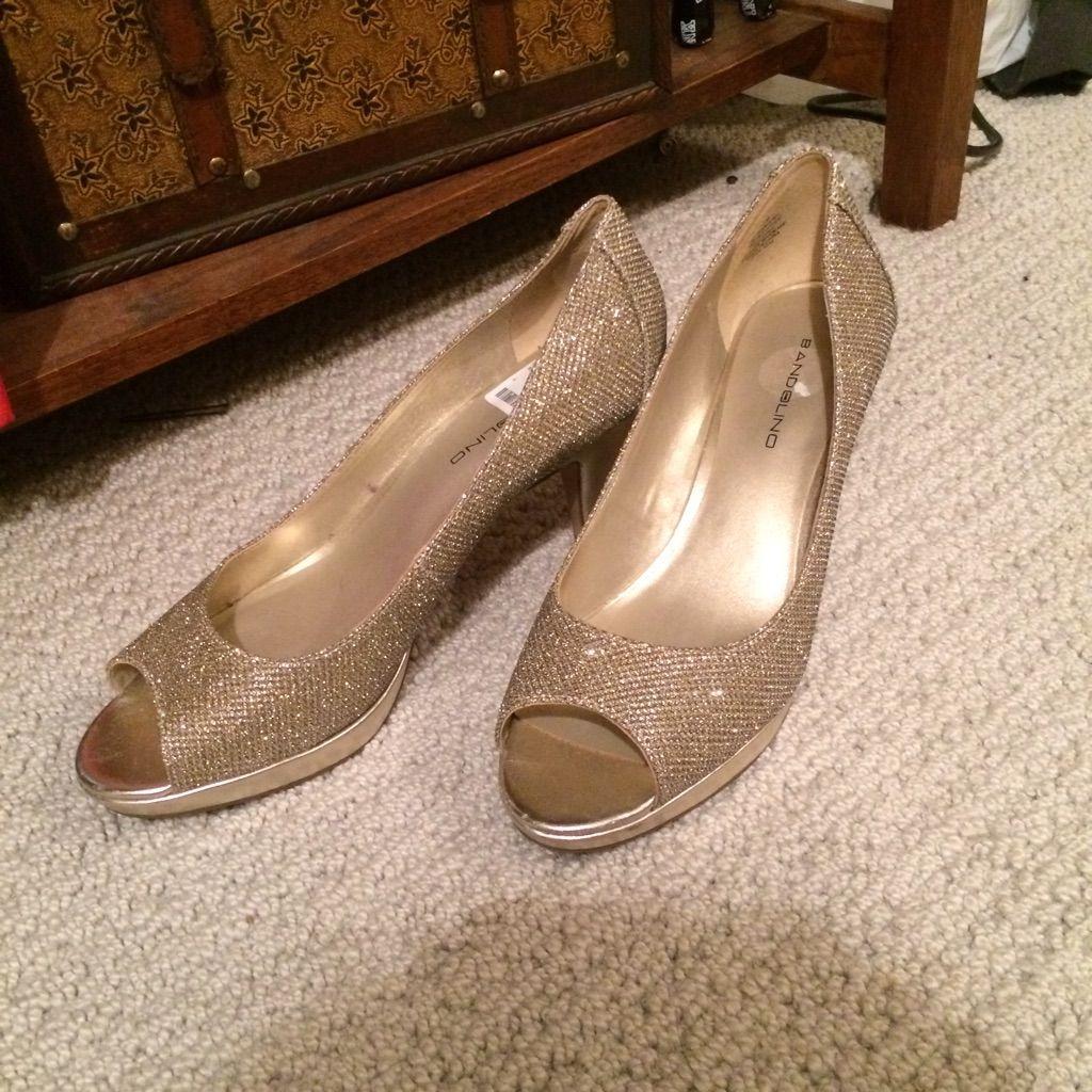 Shiny Gold Heels
