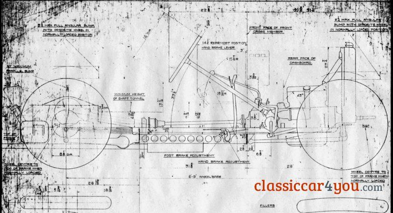 1933 Austin  - new miller blueprint co austin
