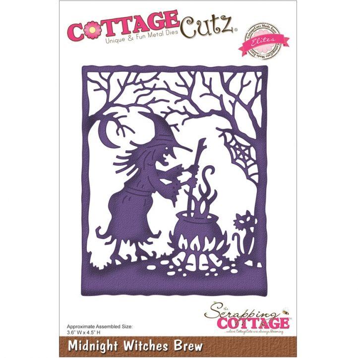 CottageCutz Elites Die-Midnight Witches Brew