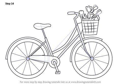 How To Draw A Cute Bicycle Drawingtutorials101 Com Bike