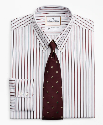Luxury Collection Milano Slim Fit Dress Shirt Button Down Collar Stripe Brooks Brothers In 2020 Brooks Brothers Mens Luxury Shirts Button Down Collar