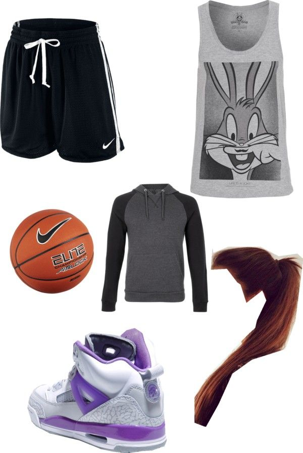 """playing basketball and he gave me his hoodie cuz I'm cold"" by jay123-378 ❤ liked on Polyvore"
