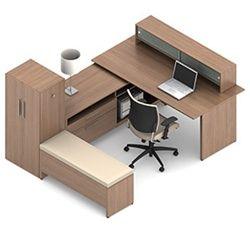 U Shaped Executive Desk Old Green Desk Lamp
