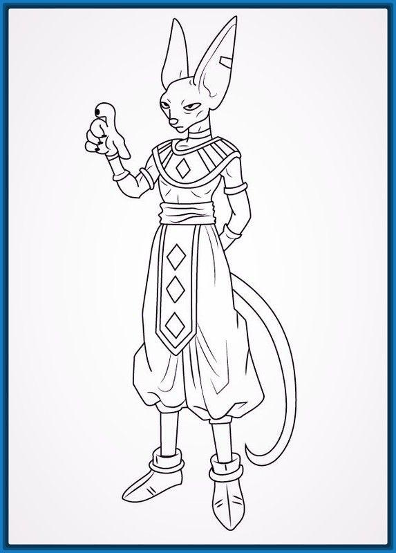 Resultado de imagem para beerus dragon ball para colorir | dbz ...