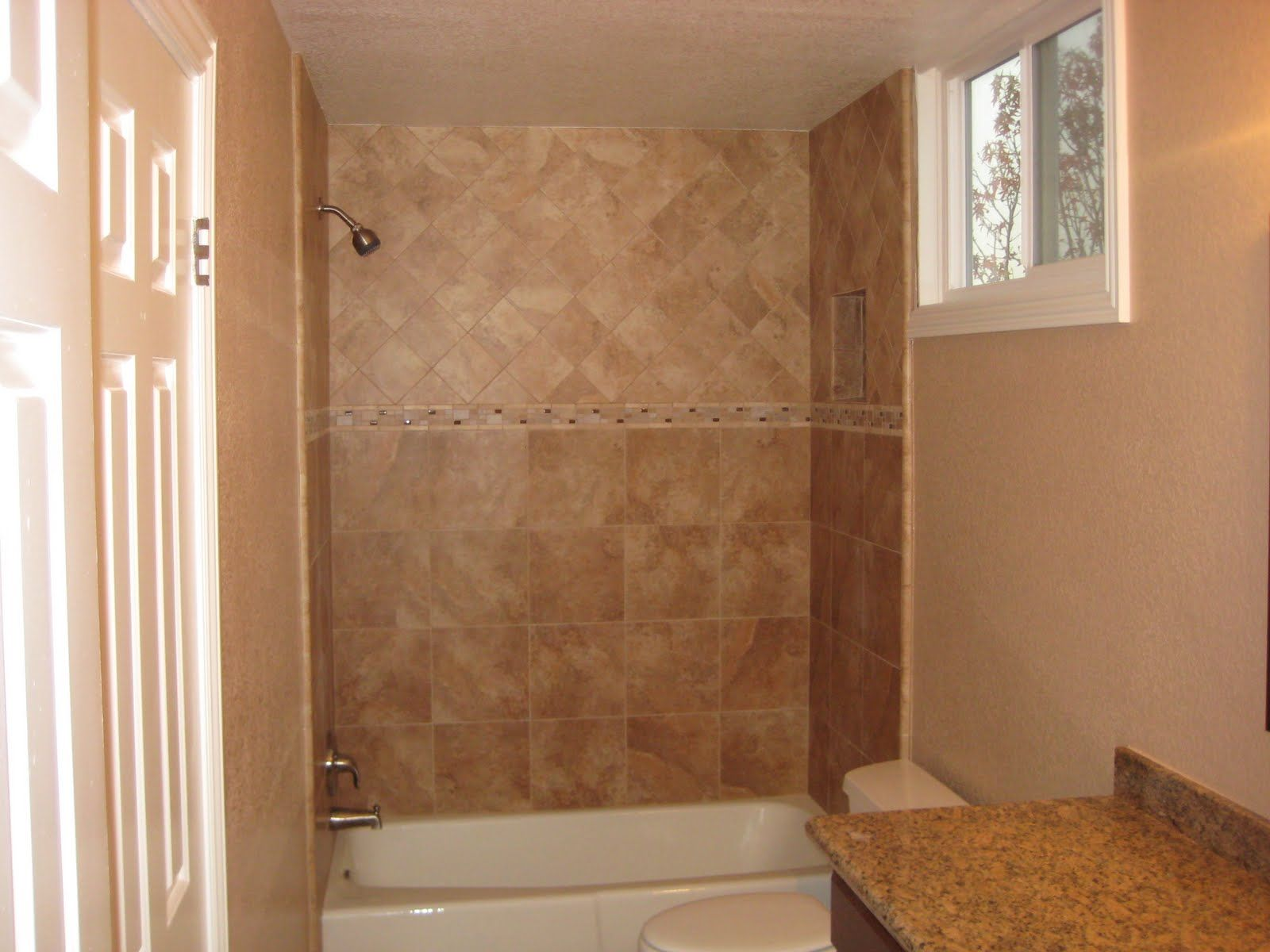 demo tile on floor and shower walls new vanity tub wall tile granit