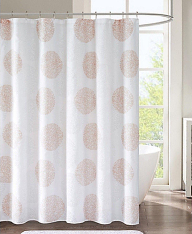 "JLA Home Lisbon Medallion-Print 72"" X 72"" Shower Curtain"