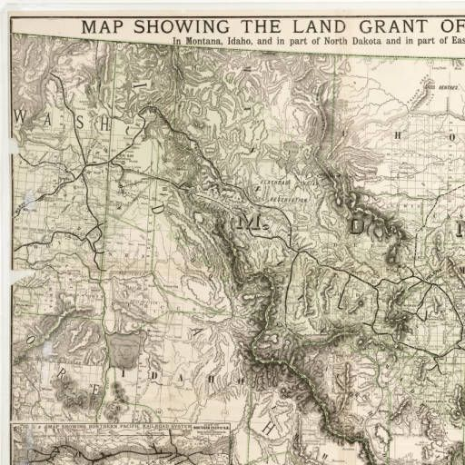 Map showing the land grant of the Northern Pacific Railroad Company
