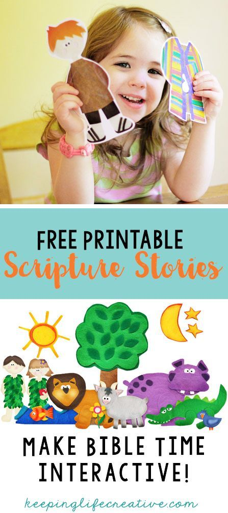 Printable Scripture Stories | Creative Scripture Learning