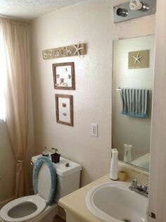 My Small Rental: Beach Themed Bathroom.