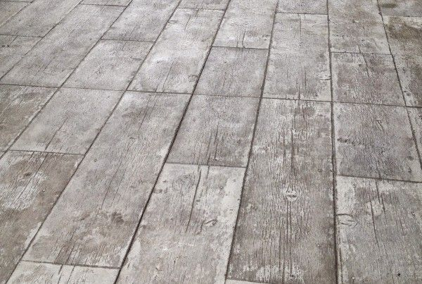 Wood Pattern Stamped Concrete Patio