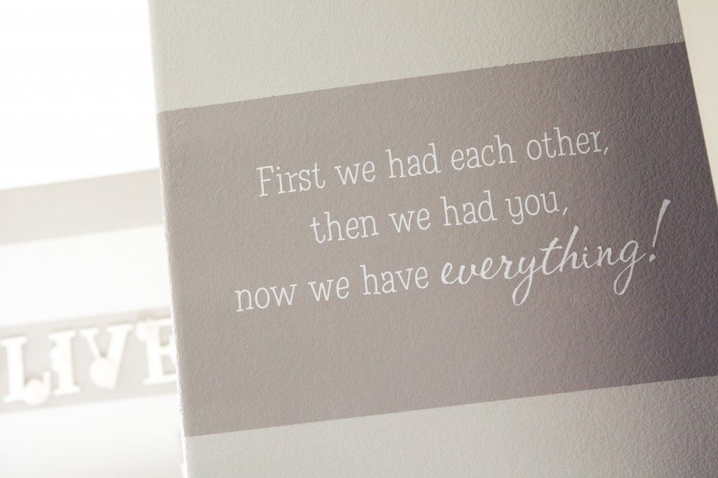 """We <3 this wall decal for the #nursery! """"Now We Have Everything"""""""