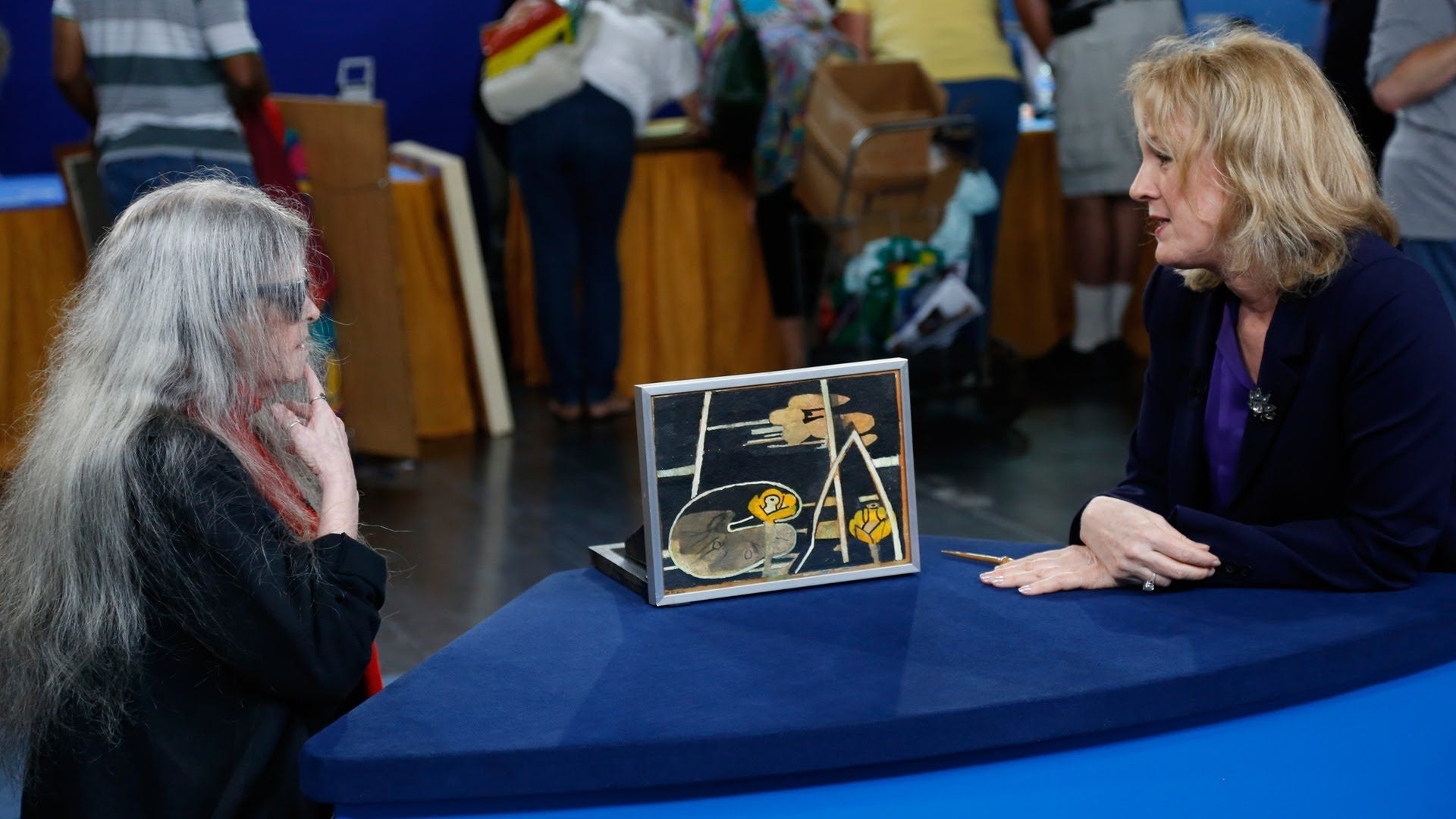 "Antiques Roadshow- WGBH- Anaheim, Hour 3 Preview: Françoise Gilot ""Yellow Flower"" Painting"