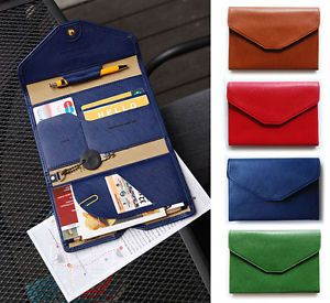 Blue And White Christmas Ornaments Leather Passport Holder Cover Case Blocking Travel Wallet