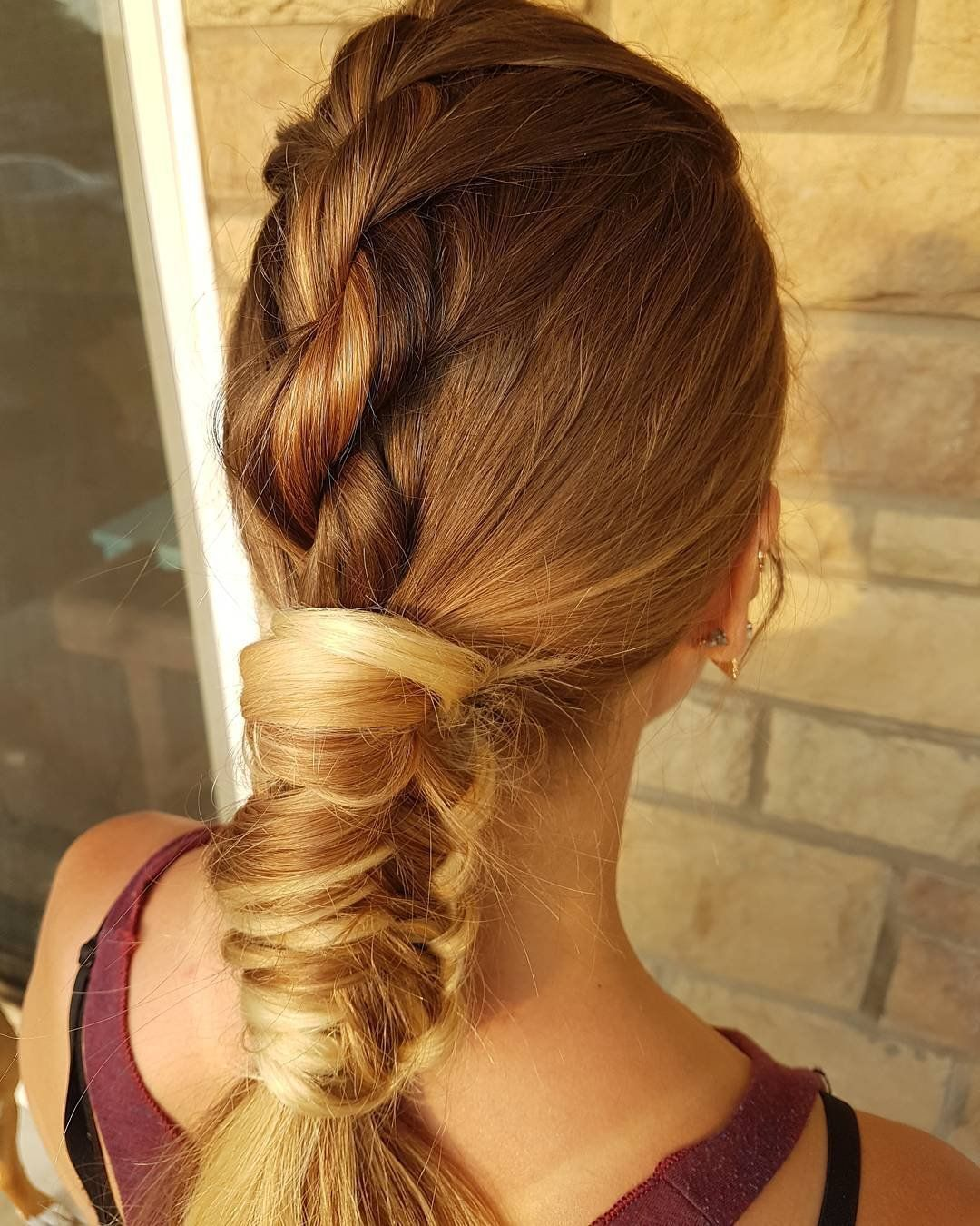 Simple Braided Hairstyles Magnificent Pinjessica David On Hair  Pinterest  Rope Braid Braid