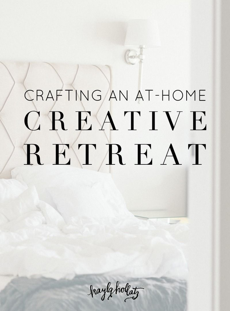 Crafting an At-Home Creative Retreat | Feeling stuck, Creativity and ...