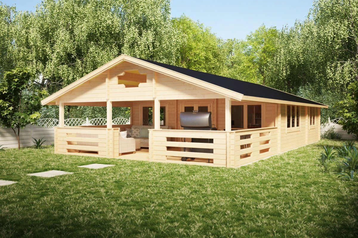 Two Bedroom Log Cabin Holiday F 50m2 7 X 12 M 70mm Summer House 24 Summer House Log Cabin Holidays Prefab Homes