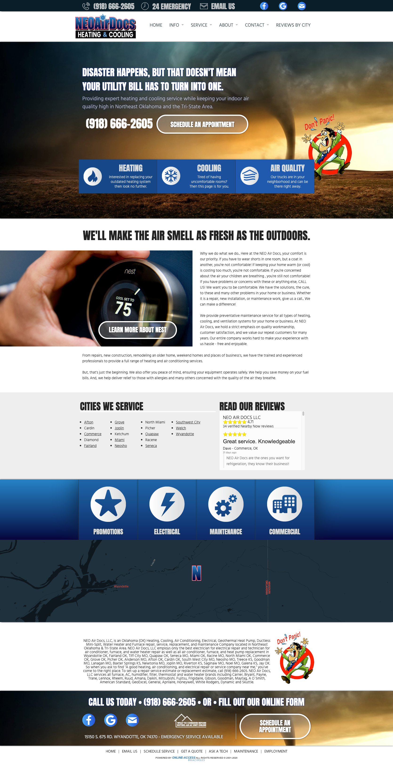 Contemporary Heating And Air Conditioning Website Design Classic