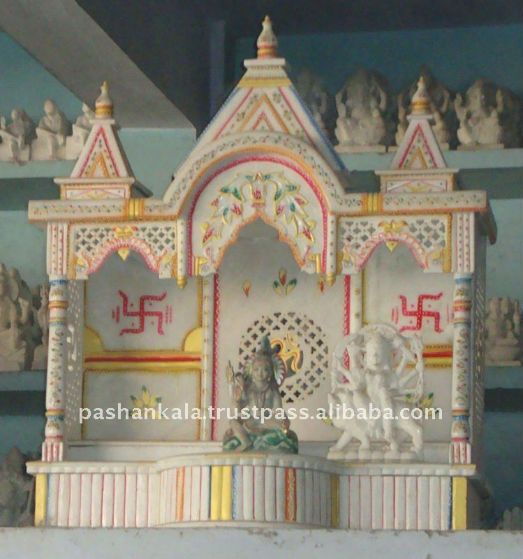Design marble temple buy temple design for home latest temple design carved marble temple for Marble temple designs for home