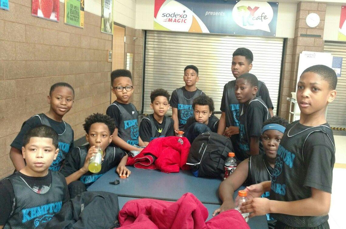 2017 Kempton Elementary School 4th - 5th grade Basketball Team. Skowalski