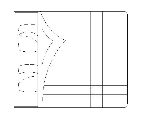 Quarto cama de casal bloco autocad cad pinterest for Cama 3d autocad