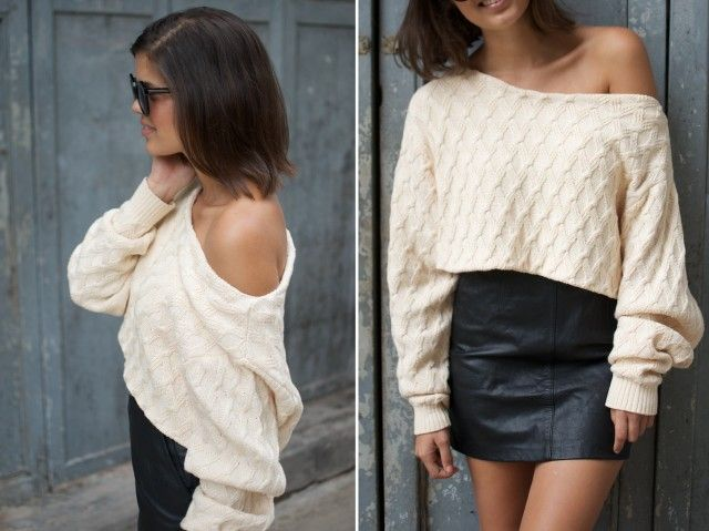 8c69f78f28f042 DIY CROPPED KNIT. You need  An oversized knit