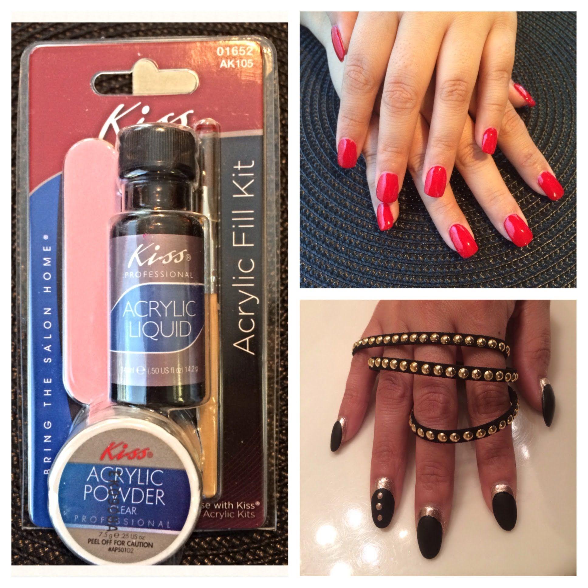 Kiss Acrylic Nail Kit Review And Demo Diy I Can Do My Own Nails Finally Acrylic Nail Kit Acrylic Nail Supplies Nail Kit