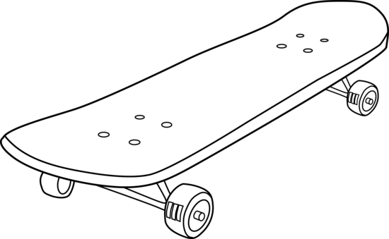 9c3a8dca Skateboard Coloring Page - Free Clip Art - ClipArt Best - ClipArt Best