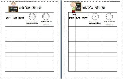Bathroom Sign Out Ideas second grade sensation: bathroom sign out sheets | classroom