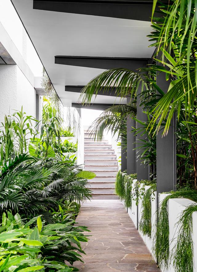 An Ultra Modern Home With Harbour Views And Lush Tropical Gardens Gardens Harbour Home Lush Moder In 2020 Tropical Garden Design Tropical Garden Ultra Modern Homes