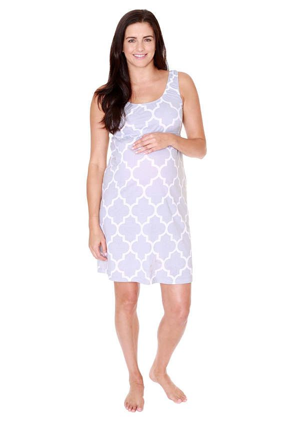 3d271bba32aee Phoebe Maternity Nursing Nightgown Hospital Bag Must Have, Makes Great Baby  Shower Gift, Gray