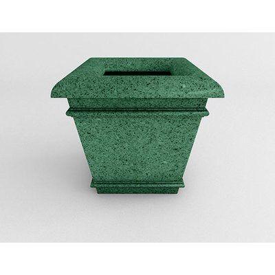 "TerraCastProducts Californian Resin Pot Planter Size: 21"" H x 23"" W x 23"" D, Color: Verdi Granite"