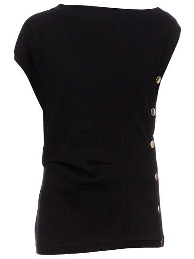 GIVENCHY Asymmetric Button Sweater