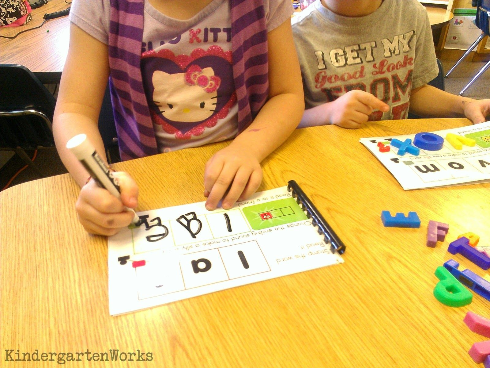 3 Hands On Kindergarten Word Work Ideas