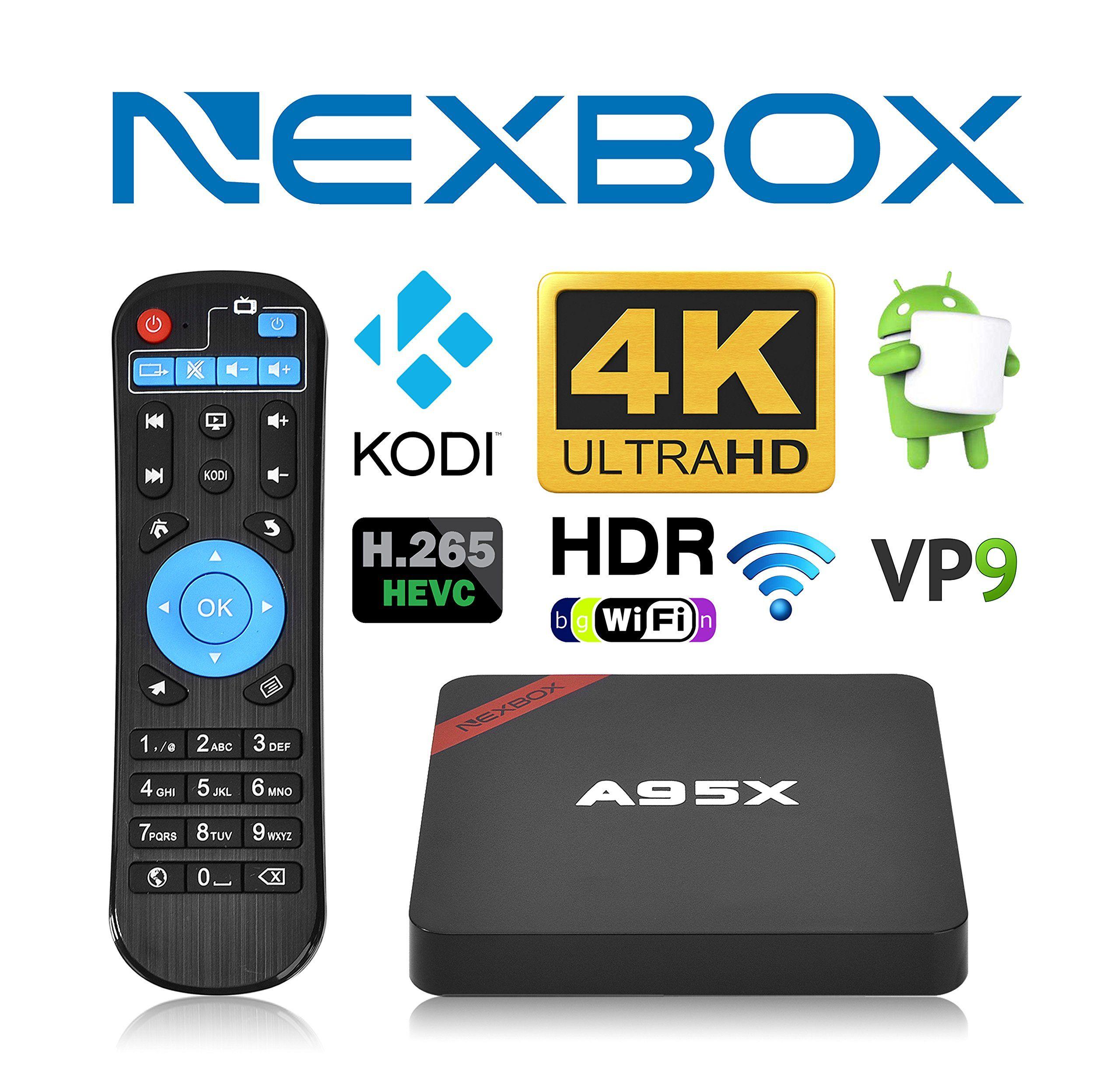 NEXBOX A95X Pro 1GB 8GB Android 6 0 TV Box S905X Quad-Core 4K HDR