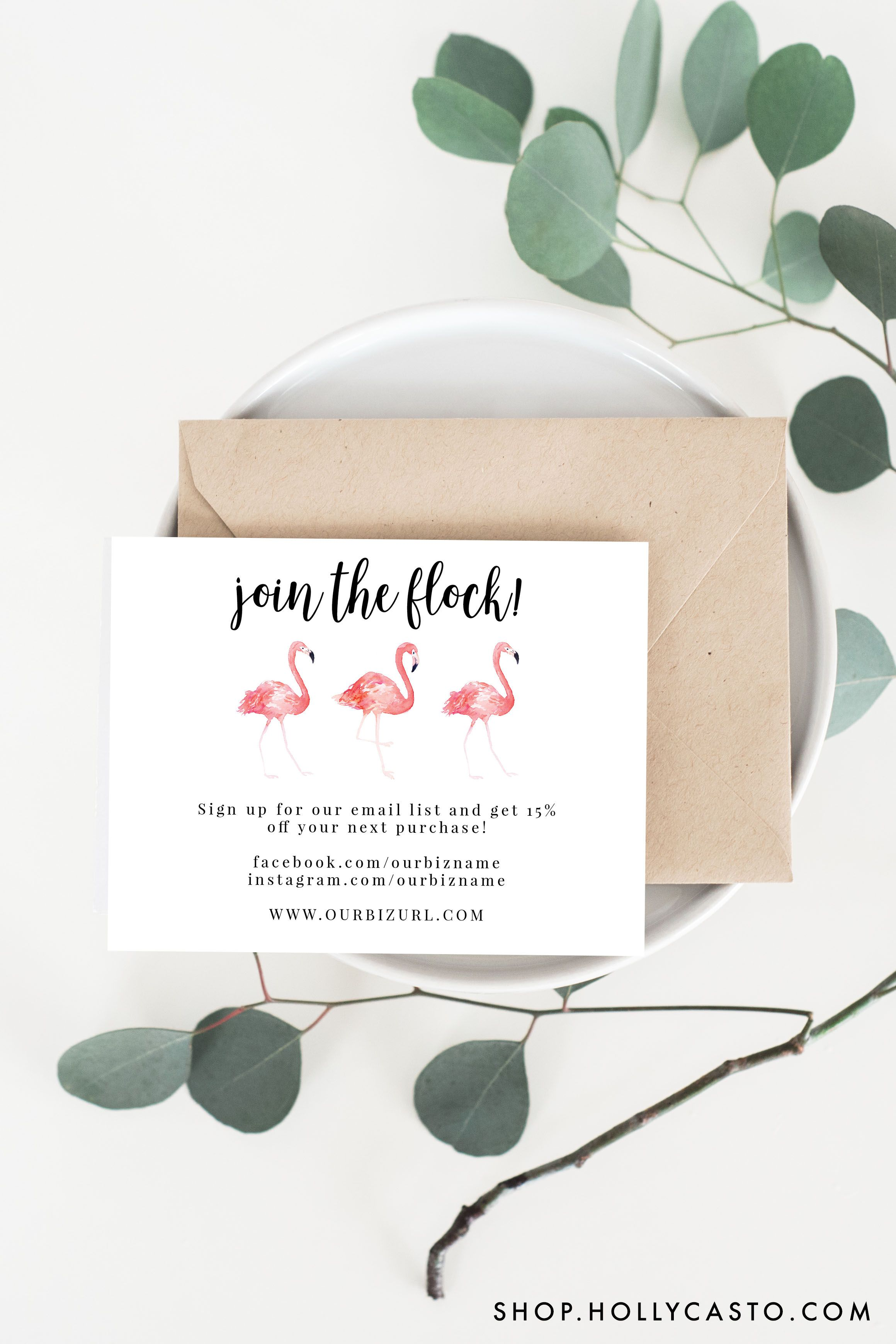 Printable Thank You Cards | Flamingo