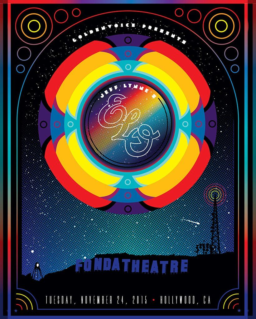 Electric Light Orchestra Band Vintage Music Posters Band Posters Music Poster