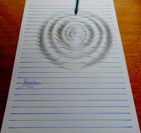 J. Desenhos, il utilise des lignes horizontales pour faire ...