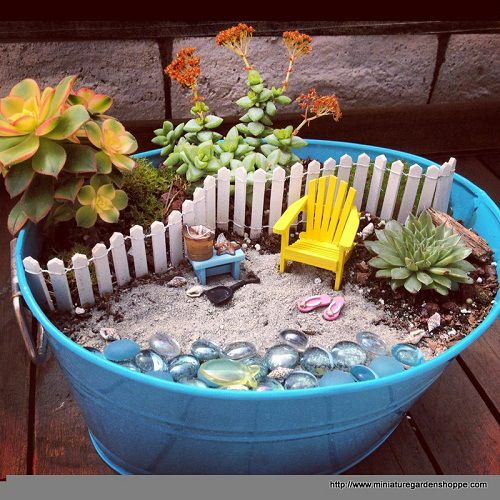 Mini jardins!   Artesanato & Humor de Mulher