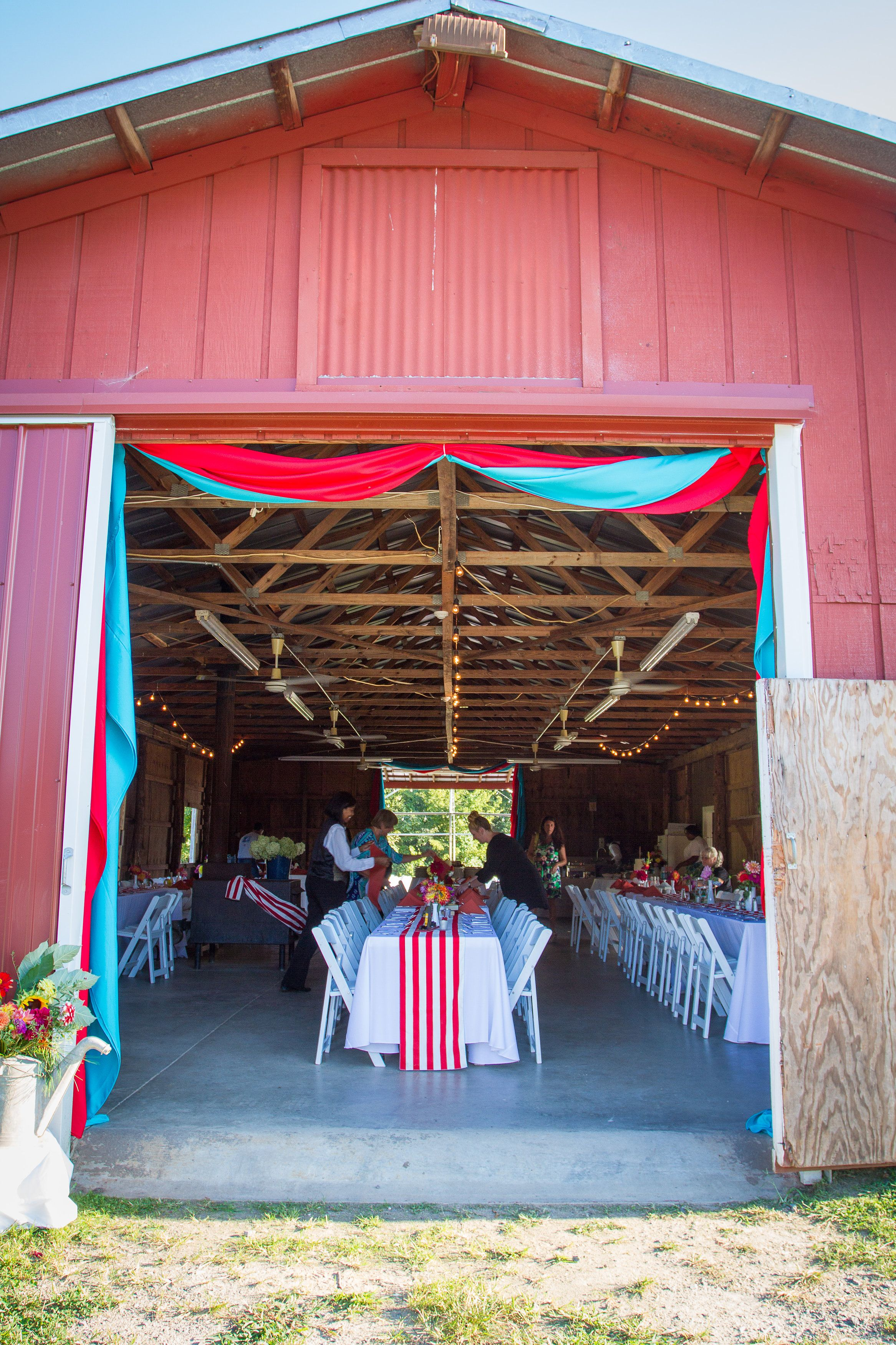 Entrance of the barn for the reception (The Field Trial ...