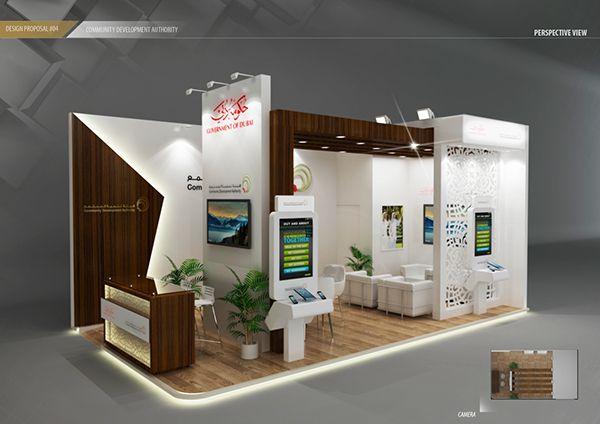 Exhibition Booth Design Concept : Design concept community development authority on behance