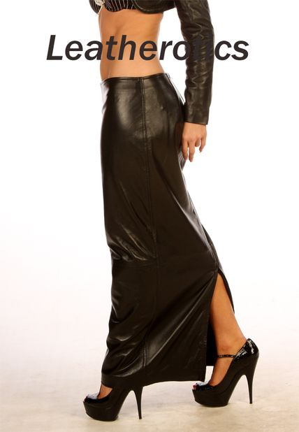 Luxury Real Leather skirt lambskin Full Length | Sexy, Long ...