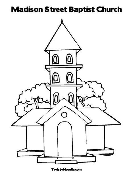Church Coloring Page From Twistynoodle Com Sunday School Coloring Pages Coloring Pages Coloring Pages For Kids