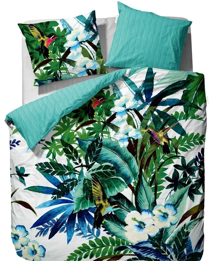 linge de lit impression motif tropical tropicale pour. Black Bedroom Furniture Sets. Home Design Ideas