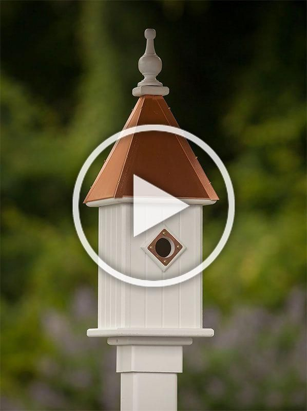 Best Copper Roof Bluebird House With A Copper Portal Built To 640 x 480
