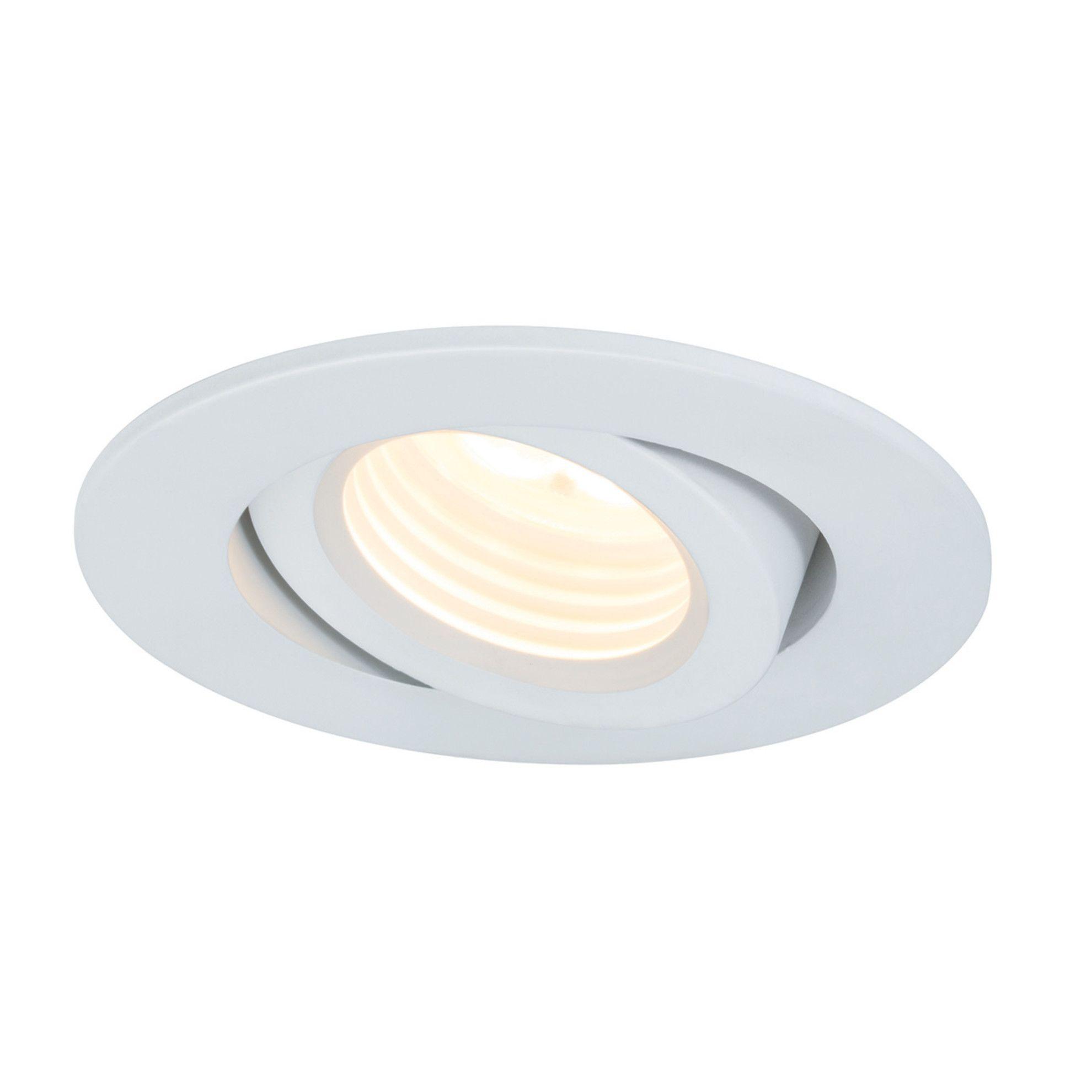 Faretto da incasso Premium Line bianco orientabile ovale Ø