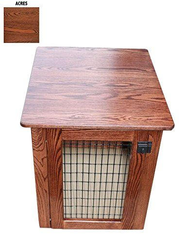 Wooden Dog Crate Furniture End Table Bed In Different Stain Colors (Acres,  Medium) U003eu003e Tried It! Love It! Click The Image. : Crates, Houses And Pens  For Dogs