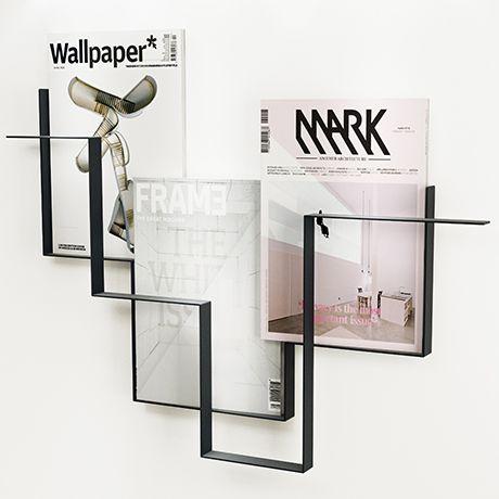 House Doctor Zeitschriftensammler 72 x 11 cm schwarz